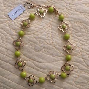 Talbots lemon lime stone necklace